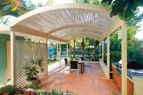 Patio Curved Roof Stratco Outback