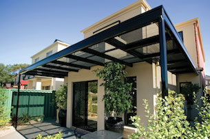 Pergola with Cape Shades