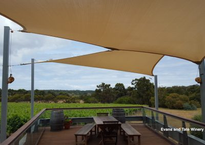 Evans and Tate Winery Sail Shades Installation